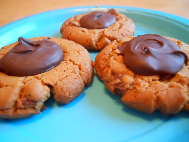 Peanut Butter Bacon Cookies with Chocolate Thumbprints ...