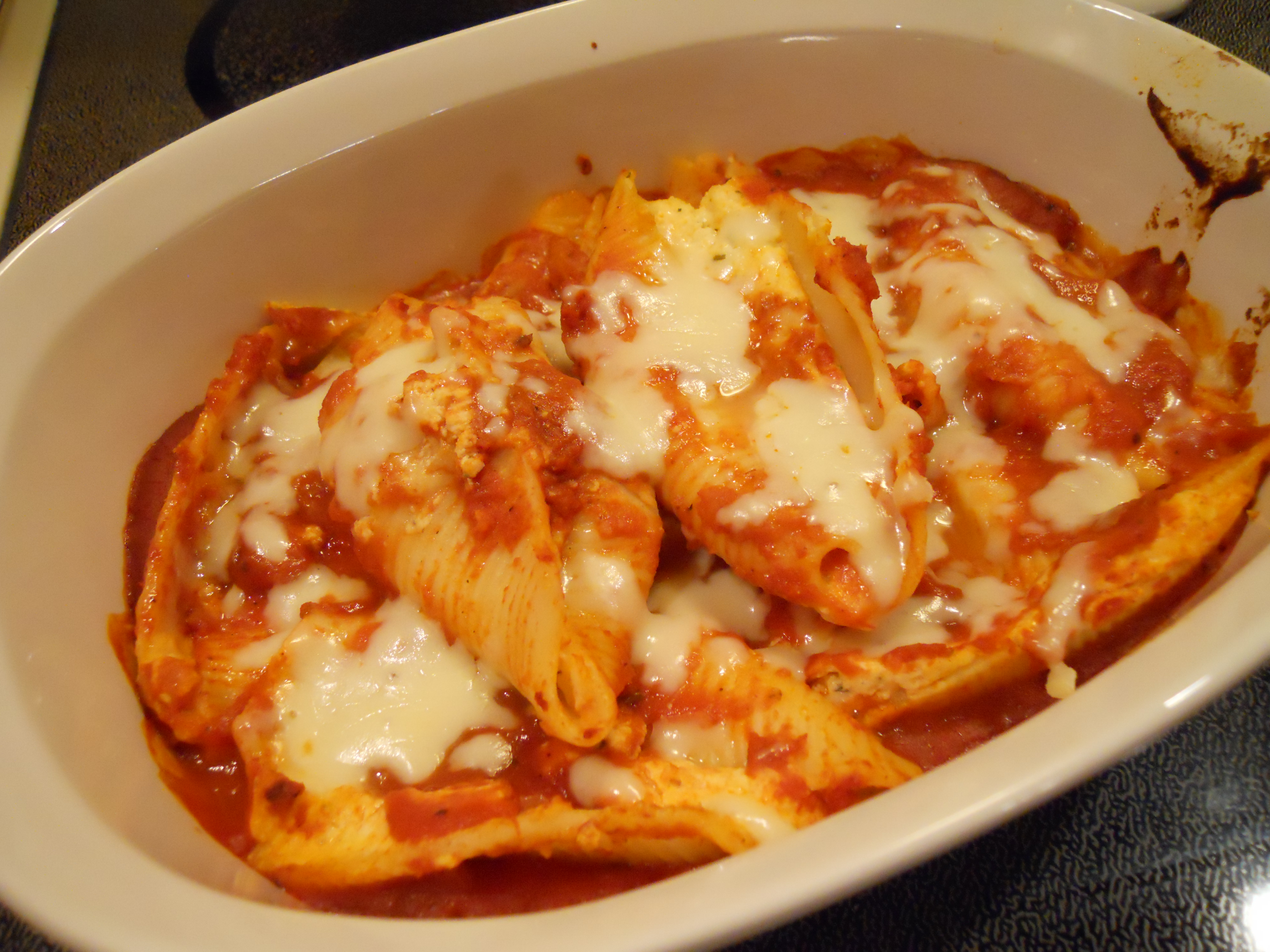 Ricotta Stuffed Shells With Roasted Tomato Sauce Recipes — Dishmaps