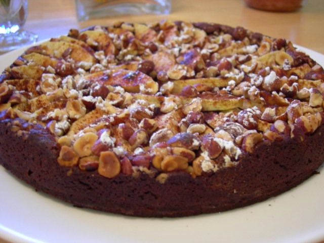 Apple Hazelnut Chocolate Cake