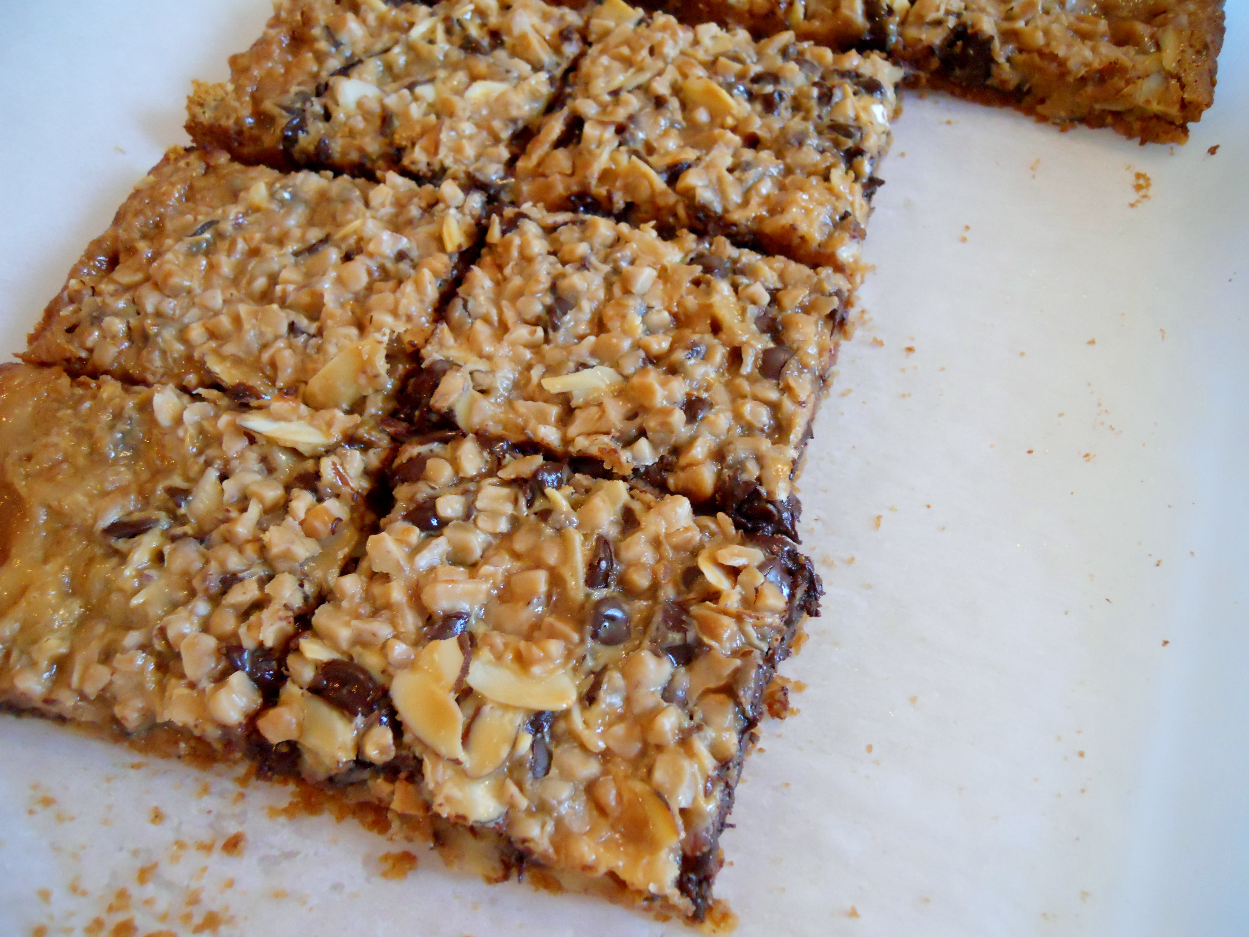 Toffee Almond Magic Cookie Bars | Kate's Recipe Box