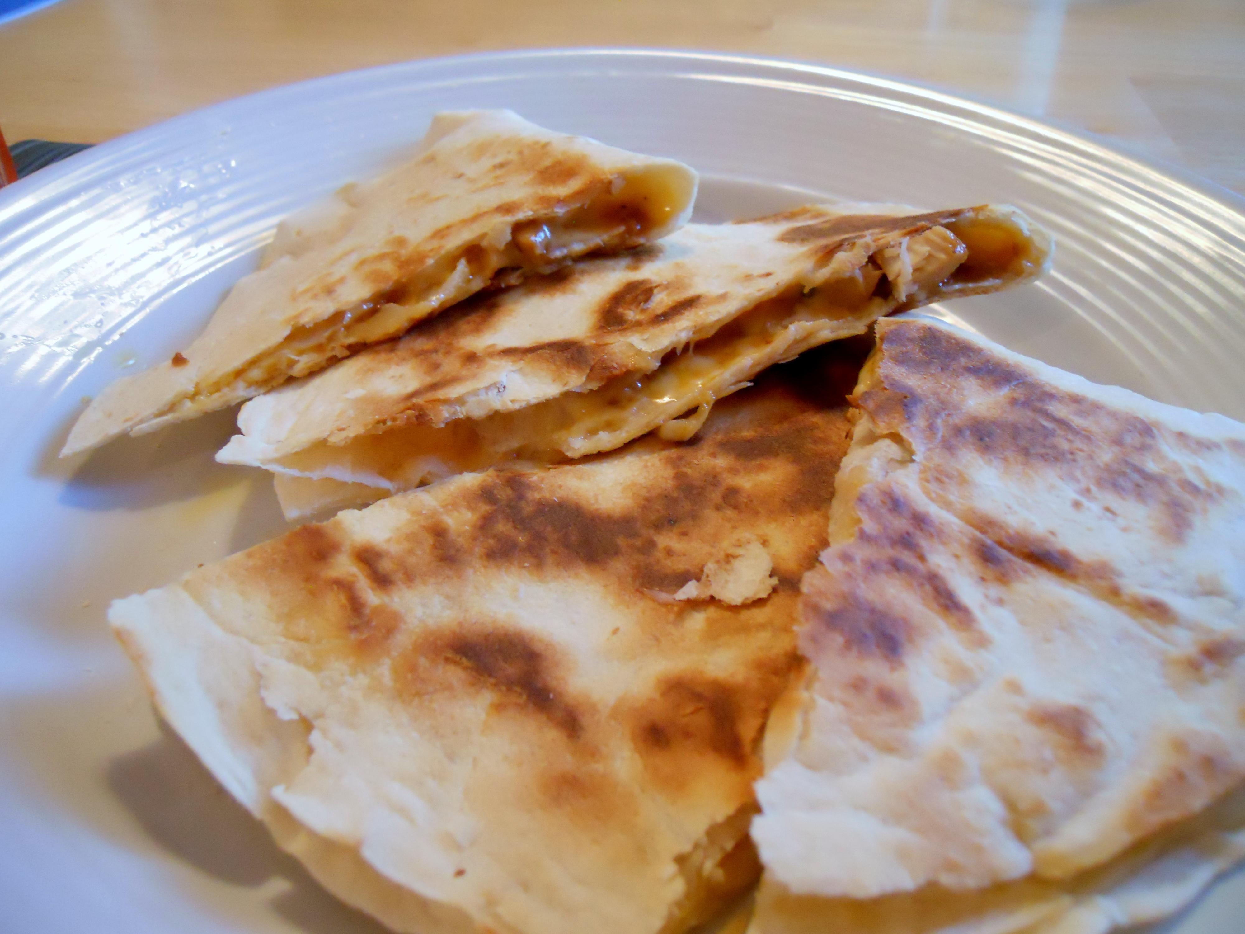 BBQ Chicken and Pineapple Quesadillas | Kate's Recipe Box