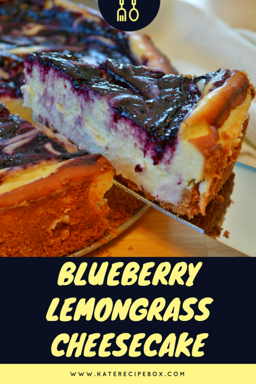Blueberry Lemongrass Cheesecake