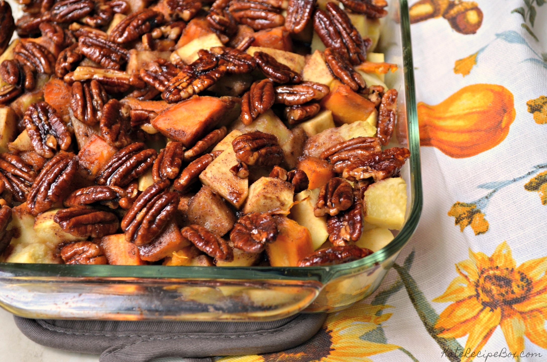 Whisky Glazed Sweet Potatoes and Apples 1