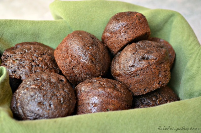 Chocolate Zucchini Mini Muffins 2