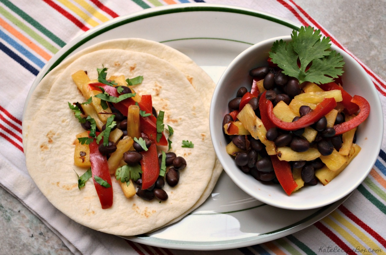 Pineapple Black Bean Tacos 3