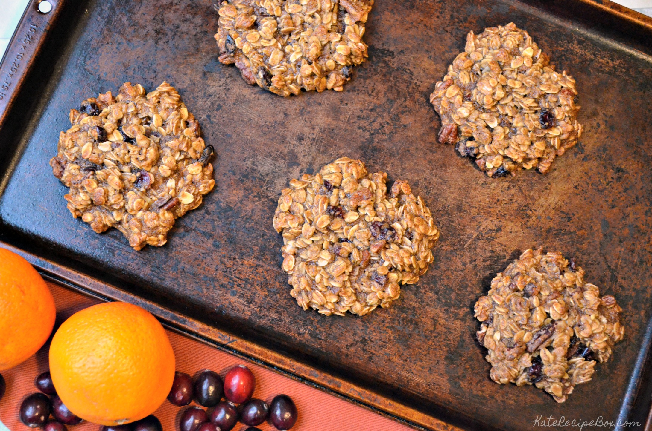 Cranberry Orange Breakfast Cookies 1