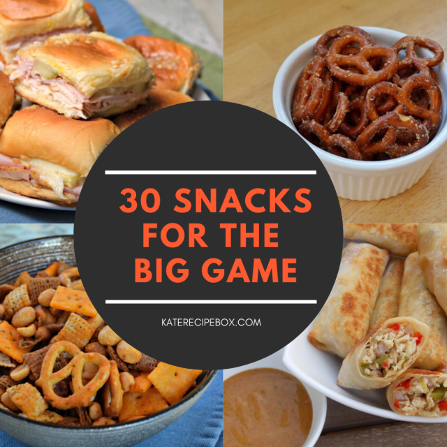 30 snacks for the big game