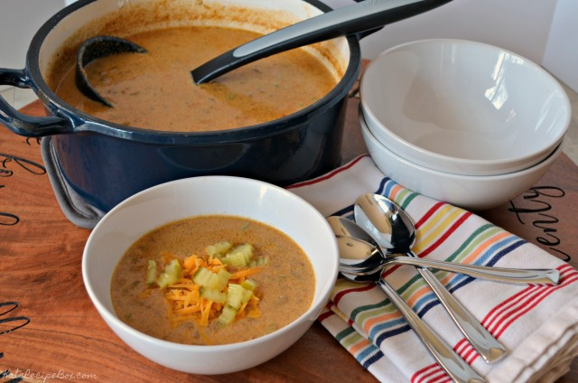 Cheeseburger Soup 3
