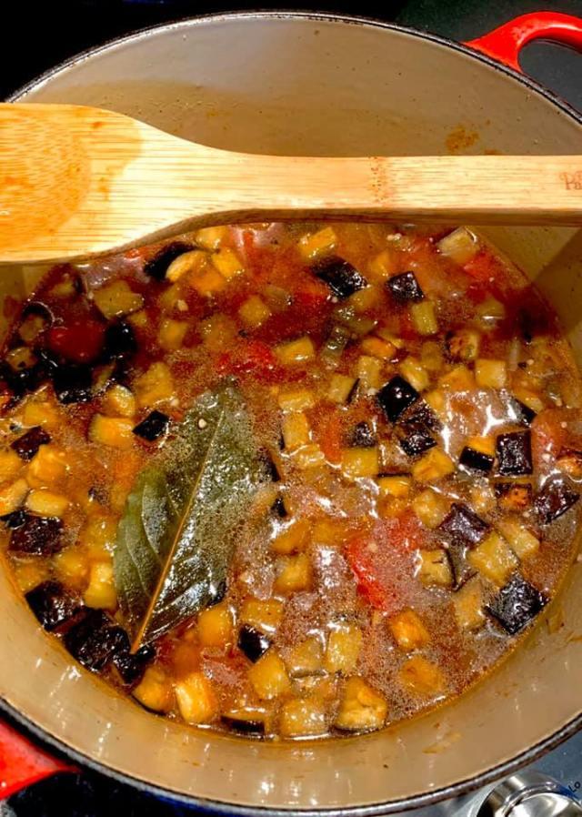 Eggplant and Tomato Soup